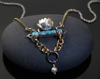 Lotus Floating on Water Necklace by Jackie Taylor Designs