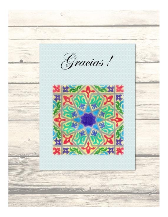 alcazar wedding thank you cards in spanish customizable