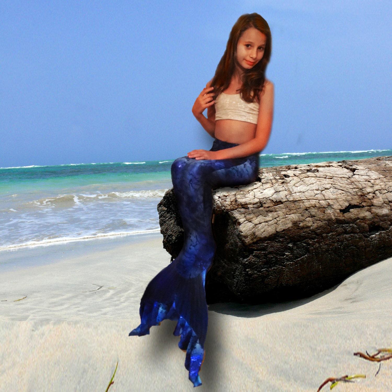 Swimmable Mermaid Tails: Swimmable Mermaid Tail Sea Scape FINIS Kids MONOFIN