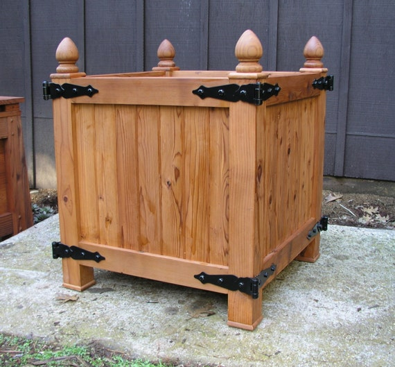 Large Redwood Planter Box For Tomatoes: Old World Redwood Planter Box Versailles Orangeries Planter