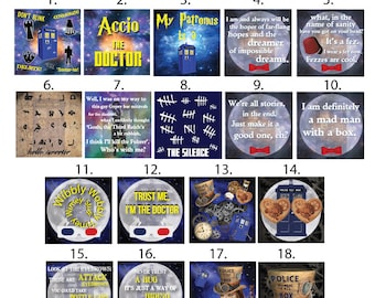 Doctor Who Inspired Coasters - Choose 4