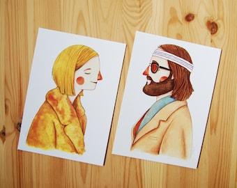 """2 prints """"The Royal Tenenbaums"""""""
