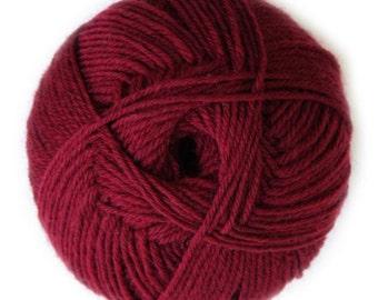 Burgundy Knitca Sock Yarn, Superwash Merino Sock Yarn, Sock Weight Yarn