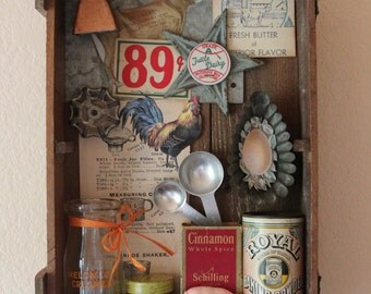 Found Object Assemblage - Vintage Farmhouse