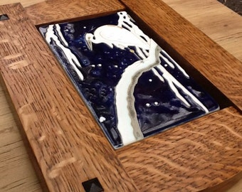 Framed ceramic tile