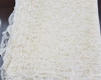 Vintage Ecru Lace Tablecloth  #18