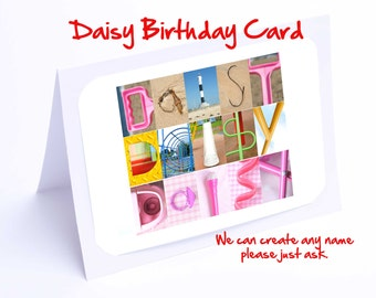 Daisy Personalised Birthday Card