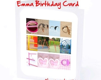 Emma Personalised Birthday Card