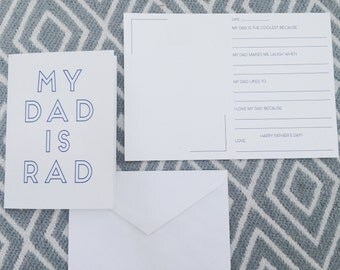 Modern Dad Father's Day Survey Card
