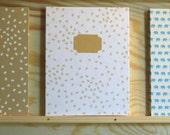 Leporello Fotoalbum Weißes Papier mit Herzen 12 Seiten
