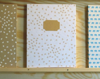 Leporello photo album white paper with heart 12 pages