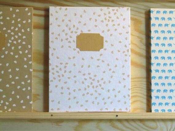 Leporello photo album white paper with heart 12 pages