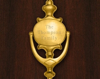 Personalized Door Knocker - Brass Door Knocker - Custom Door Knocker - Personalized Home Decor - Gifts for Couples - Housewarming - GC1330