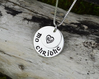 Mo Chridhe Necklace in Sterling Silver - Scottish Necklace