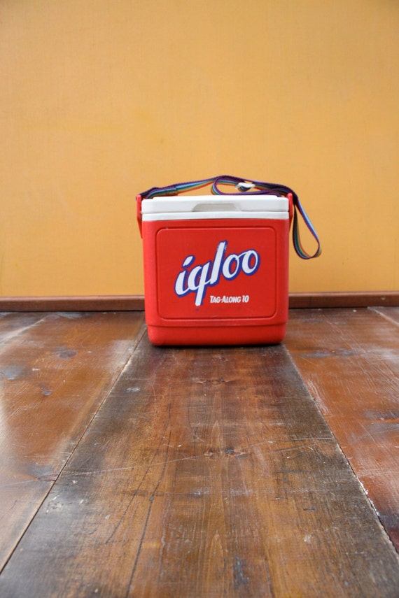 Vintage igloo mini cooler retro plastic lunch pail set for Decor 6 piece lunchbox