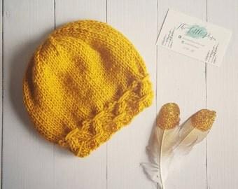 Knit baby hat, baby knit hat, newborn beanie, knit hat