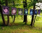 Chakra Prayer Flags - FREE SHIPPING! // Psychedelic Men and Womens Festival Clothing, Accessories & Decor by Samuel Farrand
