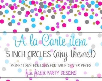 5 inch party circles