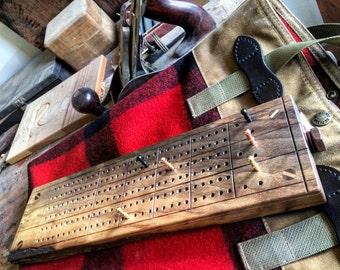 Handmade Triple Track Cribbage Board