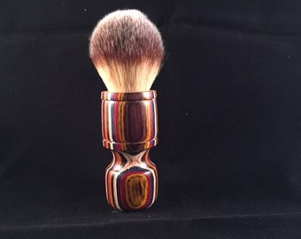 Shaving Brush Made From Dyed Woods