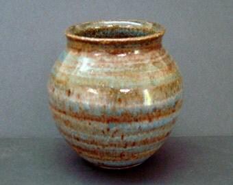 Ceramic vase, small vase, bud vase, blue vase, handmade vase, high fired
