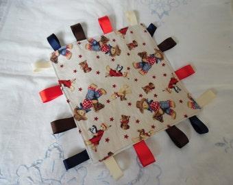 Minky Tag Baby Blanket / Security Blanket / Baby Blanket / Snuggle Blanket / Minky Blanket