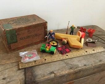 Cigar Box Full Of Vintage Toys