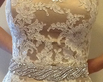 All around beading Bridal belt wedding belt bridal sash wedding sash crystal sash wedding dress jeweled belt rhinestone sash rhine