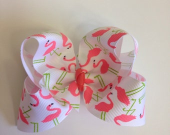 Pink Flamingos Boutique Bow