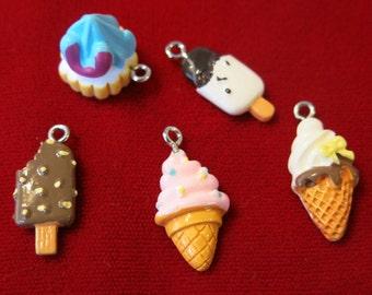 "BULK 15pc ""ice cream"" resin charms - lightweight (BC505B)"