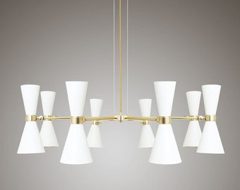 Cairo 8 Arm Contemporary  Chandelier