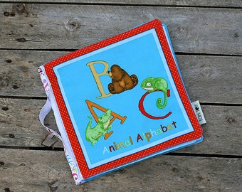 Fabric book Animal alphabet 10 pages