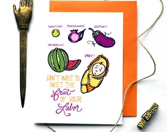 Fruit of Labor Expecting Greeting Card