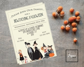 A Bewitching Halloween Invite-Printable Invitation-Party Invite-INSTANT DOWNLOAD-Editable File-Print Yourself-Halloween-Family