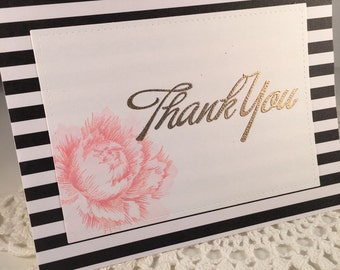 Peony Thank you Card