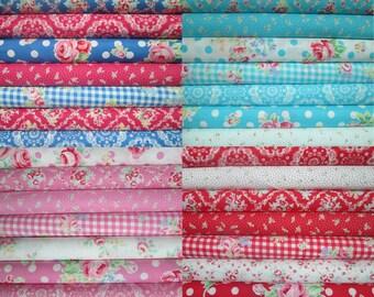 Lecien Flower Sugar, Fall 2015, Fat Quarter Bundle of 28, Japanese Fabric