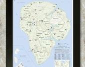 Jurassic National Park Map 16x20 Poster (Isla Nublar)