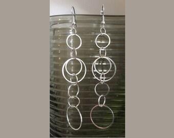 Circle Series Drop Earrings