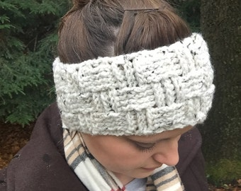Crochet Pattern - The Basket Weave Head Wrap