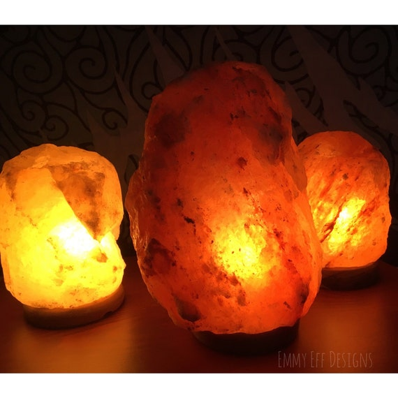 Genuine Himalayan Salt Lamps by EmmyEffDesigns on Etsy