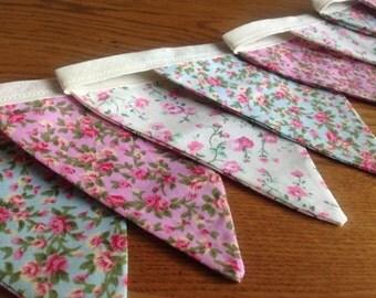 Floral print bunting