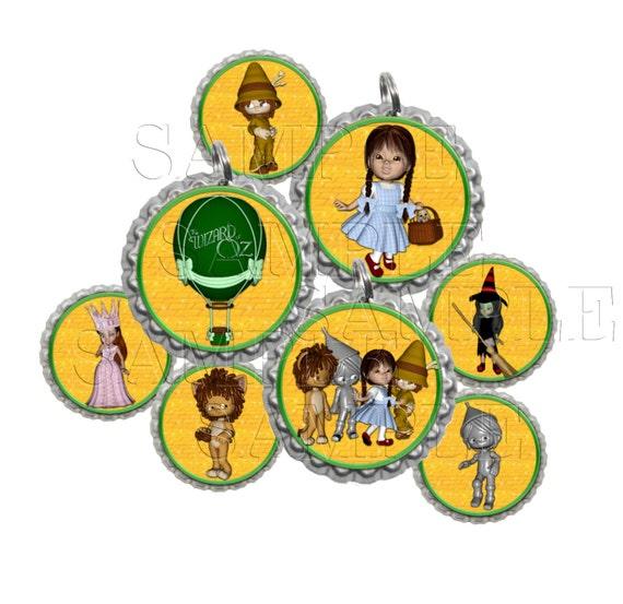 Wizard Of Oz II Bottle Cap Images Clip Art1 Inch Circles