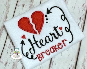 Heart Breaker Shirt or Bodysuit, Boy Valentine Shirt, Heart Breaker Shirt, Unisex Valentine Shirt, Heart Breaker Valentine Shirt