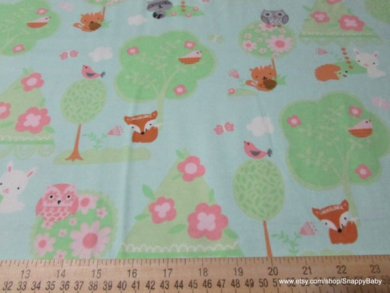 Flannel fabric baby 39 s forest by the yard 100 cotton for Children s flannel fabric by the yard