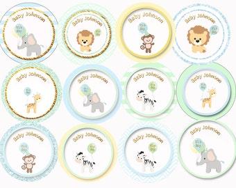 Animal cupcake toppers, animal baby shower Safari cupcake toppers Safari baby shower Safari sprinkle Safari baby shower printable