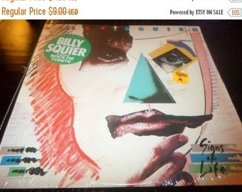 Save 30% Today Vintage 1984 LP Record Billy Squier Signs of Life Near Mint Condition Capitol EMI Records