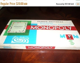 Save 30% Today Vintage 1961 Monopoly Board Game Parker Brothers Original Dice 100 Percent Complete