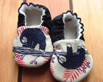 Sloth Baby Shoes,Sloth Baby Boy Shoes, Sloth Baby Girl Shoes, Sloth Baby Clothes, vegan shoes Sloth Baby  Baby Shoes, forest Shoes