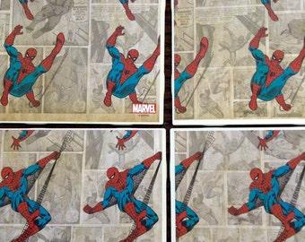 Spiderman Tile Coasters