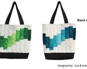 WAVES tote bag kit - blue and green ombre tote/purse/bag